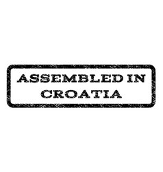 Assembled in croatia watermark stamp vector