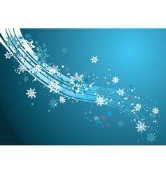 Background with Snowflakes2 vector image
