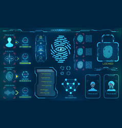 biometric identification or recognition system of vector image