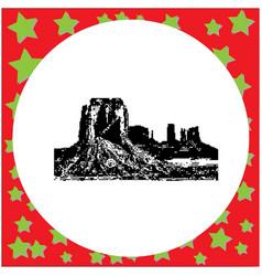 Black 8-bit monument valley navajo tribal park vector