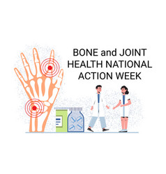 Bone and joint health national action week concept vector
