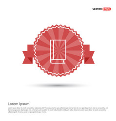 Book icon - red ribbon banner vector
