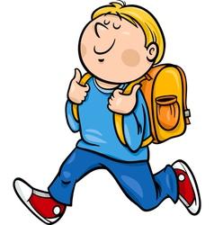 Boy grade student cartoon vector