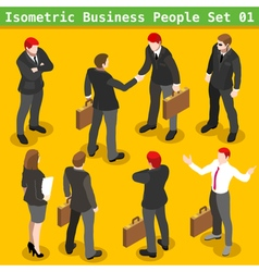 Business Poses 01 People Isometric vector image