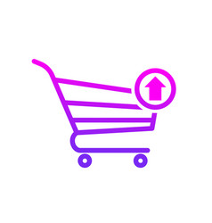 Buy cart output shop store icon vector