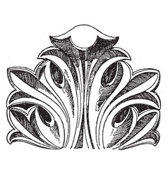 Byzantine leaf is a design found in vector