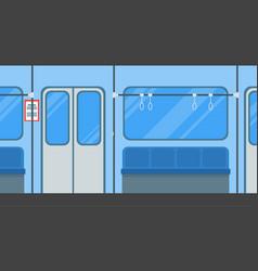 Cartoon subway train card poster vector