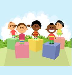 Children of different nationalities vector