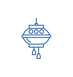 chinese lamps line icon concept chinese lamps vector image