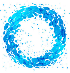circle water splash vector image