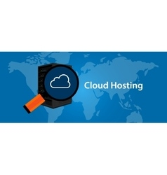 cloud hosting virtualization server web- services vector image