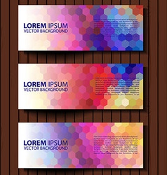 Colorful progress banners collection vector