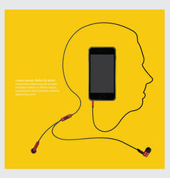 conceptual earphones with telephone vector image
