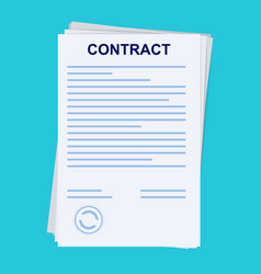 contract signing sign a contract concept folder vector image
