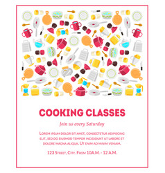 cooking classes banner template culinary school vector image