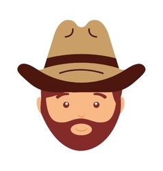 Cowboy avatar isolated icon design vector