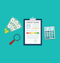 credit score infographic loan report personal vector image