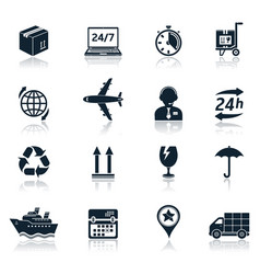 delivery and transportation icons vector image