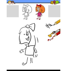 drawing and coloring for kids vector image