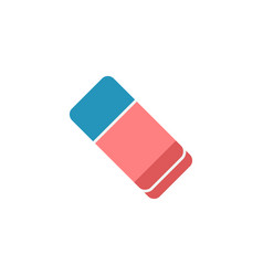 eraser flat icon school and education element vector image