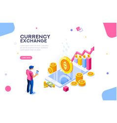 ethereum exchange concept vector image