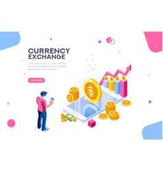 Ethereum exchange concept vector