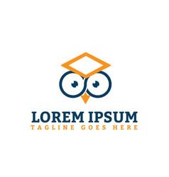 Face owl linear icon symbol design template vector