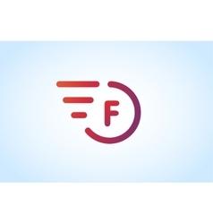 Fast line letter logo monogram vector image