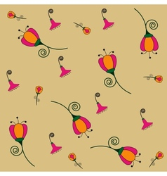 floral colorful seamless pattern vector image