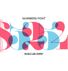 font of numbers in classical french didot vector image