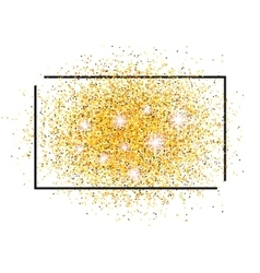 Frame for text and a scattering of Golden sand vector image