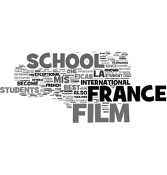 France film school text background word cloud vector
