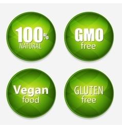 Gmo Free 100 Natutal Vegan Food and Gluten Free vector