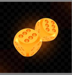 golden luck award craps concept shiny realistic vector image