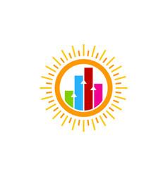 Graph sun logo icon design vector