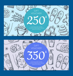 hand drawn spa discount card vector image