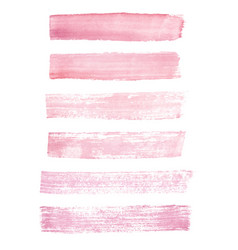 hand painted pink watercolor grunge brush strokes vector image