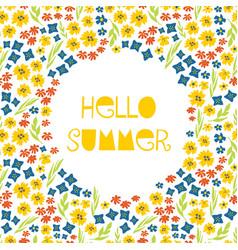Hello summer collage feminine banner vector
