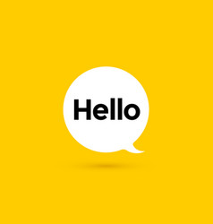Hi hello banner speech bubble poster vector
