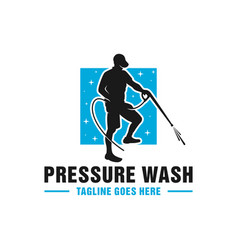 High pressure washing pipe logo vector
