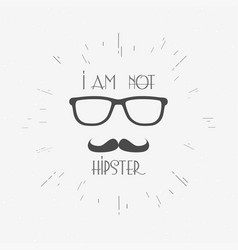 hipster vintage label badge or print vector image