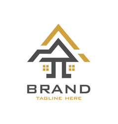 house building logo design vector image