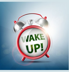 icon ringing alarm clock vector image