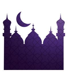 Islamic building icon vector