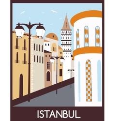 Istanbul street vector image