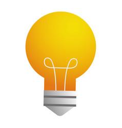 light buld idea cartoon vector image