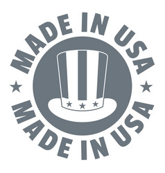 Made in usa top hat logo simple style vector