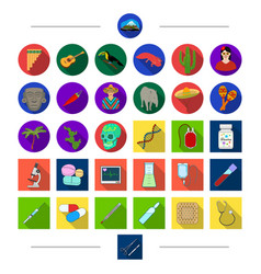 Medicine mexico and other web icon in cartoon vector