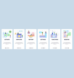 mobile app onboarding screens portable gaming vector image