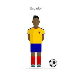 national football player ecuador soccer team vector image